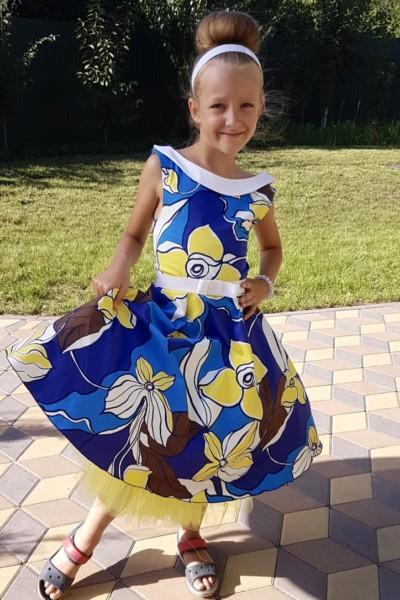Платье в цветы Стиляги
