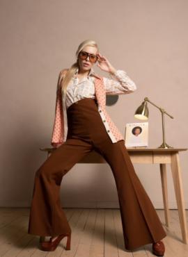 Костюм , платье трапеция в стиле 70х годов
