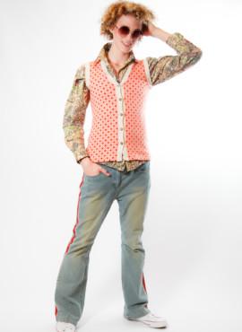 Мужской костюм в стиле ретро 70х — 80х годов