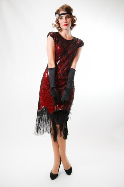 Бордовое платье расшитое бисером м черной пайеткой