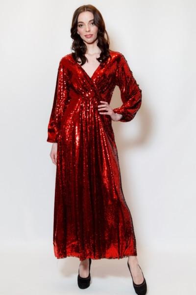 Платье в пайетку в стиле 80х — 90х