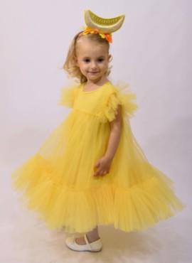 Желтое пышное платье и обруч дыни / платье дыньки