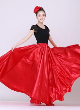 Танцевальня красная юбка для фламенко