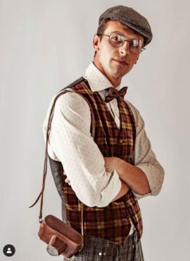Мужской костюм в стиле 20х-30х годов.